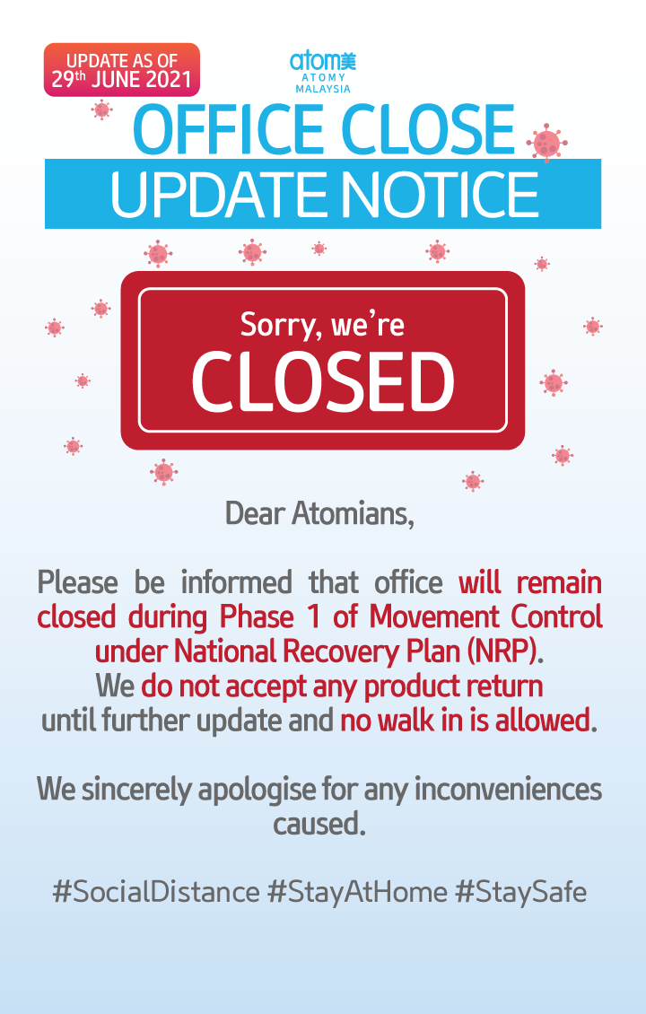 [Important] Office Close Update Notice (Latest updated)