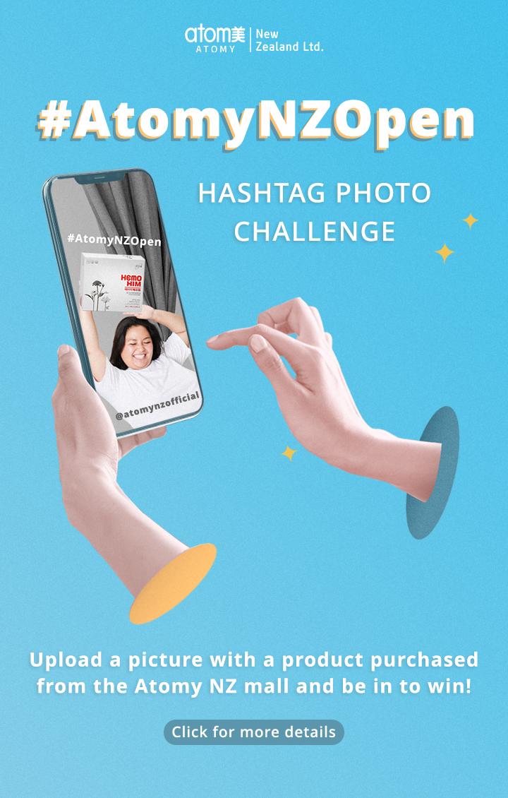 #AtomyNZOpen Hashtag Photo Challenge
